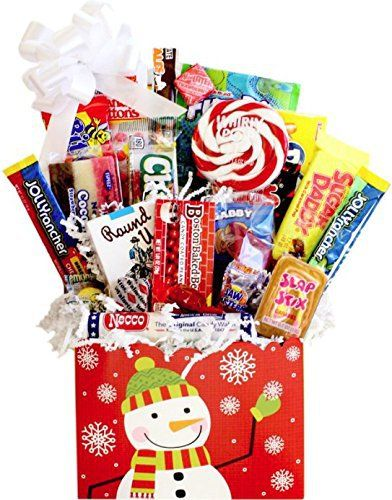Our Holiday Wreath Retro Candy Gift Basket is full of sweet treats!! Contains Bit O Honey, Boston Baked Beans, Candy Buttons, Candy Cigarettes, Coconut Bar, Cow Tales, Fun Dip, Jolly Rancher Sticks, Jujubes, Necco Assorted Roll, Pop Rocks, Slap Sticks Caramel Pop, Sugar Daddy, Wax Lips,... more details available at https://perfect-gifts.bestselleroutlets.com/gifts-for-holidays/grocery-gourmet-food/product-review-for-home-for-the-holidays-retro-candy-gift-basket-with-whirly-po