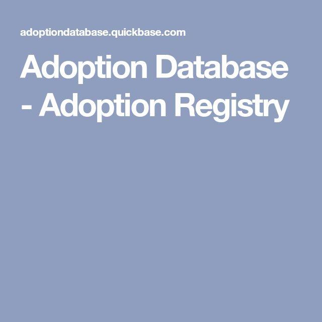 Adoption Database - Adoption Registry