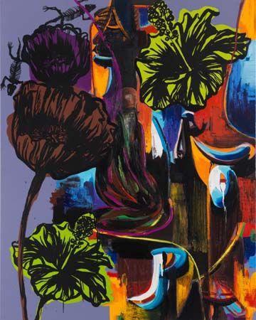 Lizard Twins by Adam Saks, 150 x 120 cm, 2012 | adamsaks.com