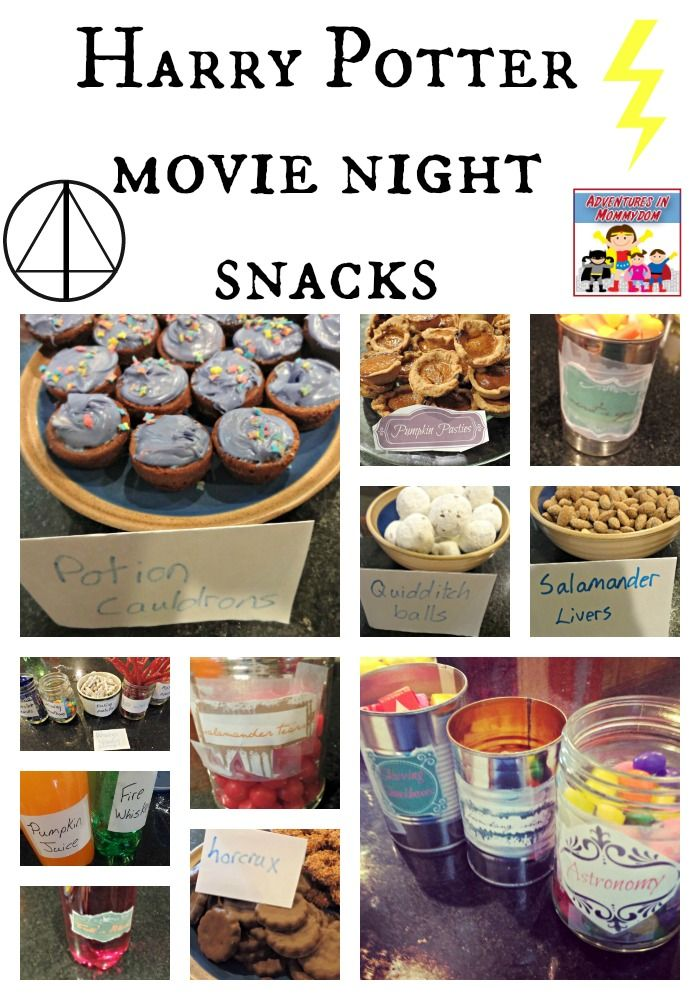 Harry Potter movie marathon, including creative snack ideas and educational activities. @AdventuresinMommydom