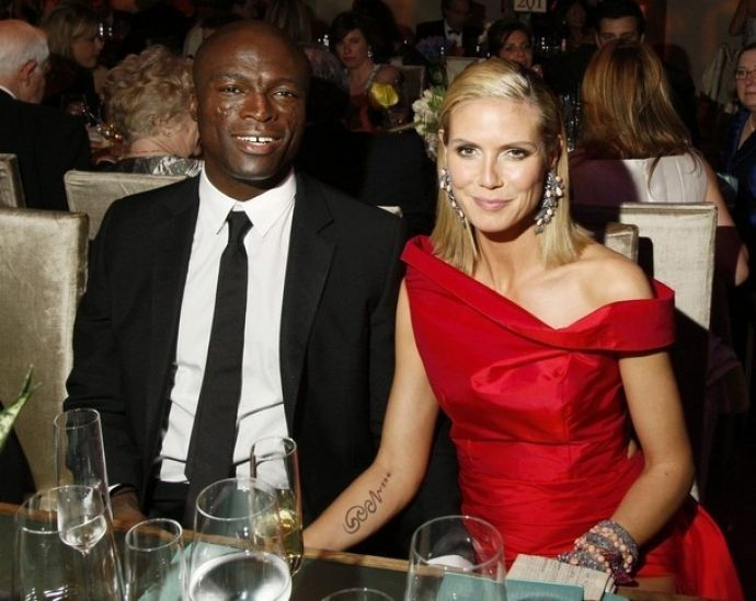 Seal and Heidi Klum at the Oscars in 2009