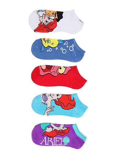 Disney The Little Mermaid Ariel Friends No-Show Socks 5 Pair | Hot Topic $15 http://www.hottopic.com/hottopic/Girls/Hosiery/Disney+The+Little+Mermaid+Ariel+Friends+No-Show+Socks+5+Pair-10003627.jsp