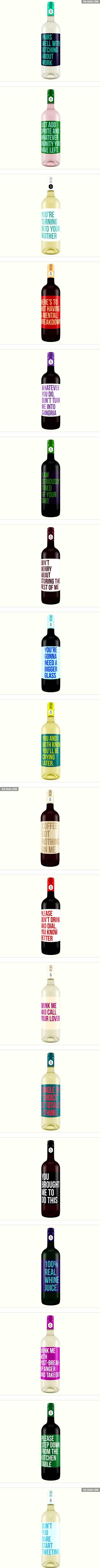 Brutally Honest Wine Labels - 9GAG