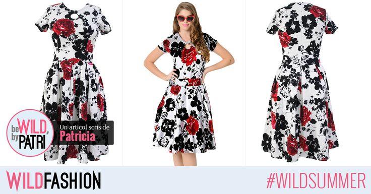 Buna, fetelor! Imprimeul floral si tinutele cu aer retro sunt la moda in acest an: trebuie sa iubim aceasta rochie!