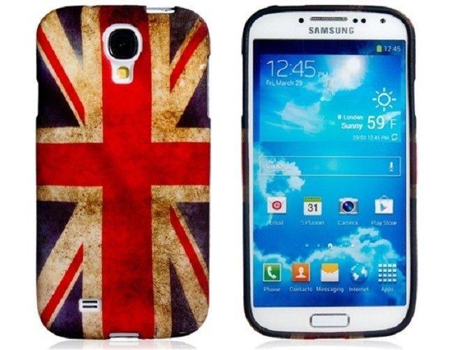 Samsung Galaxy S4 / I9500 Retro UK Flag Rubber Protective Case