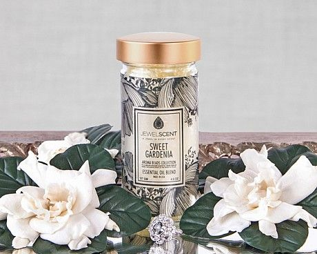 Sweet Gardenia Aroma Beads for $20.00 at www.jewelscent.com/KarinGriffis #jewelscentGardenias Candles, Aroma Beads, Gardenias Aroma, Jewels Scented, Argan Oil, Gardenias Bloom, Sweets Gardenias, Soy Candles, Bridesmaid Gift