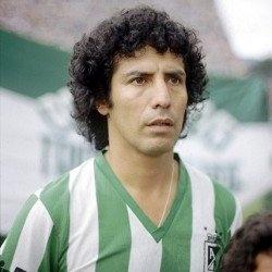 """Cesar Cueto, conocido como """"El poeta de la zurda"""", jugó 102 partidos con Atlético Nacional, donde estuvó desde 1979 hasta 1983, con un saldo de 77 goles y el campeonato de 1981."""