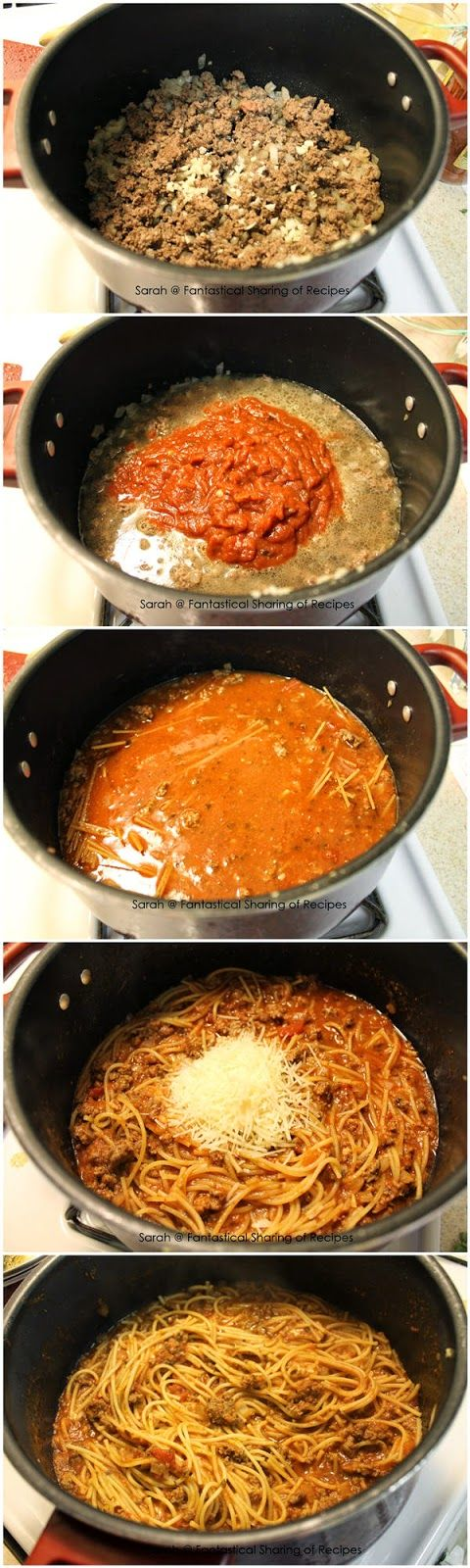 One Pot Spaghetti- had this at a friend's house and it was awesome! Also, you can freeze the leftovers for later!