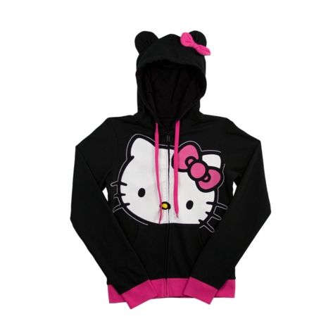 After Party Hoodie ~ Womens Hello Kitty Hoodie in BlackPink at Journeys Shoes. Shop today for the hottest brands in mens shoes and womens shoes at Journeys.com.Cotton blend zippered hoodie from Hello Kitty features contrasting hood pulls and bow accent.