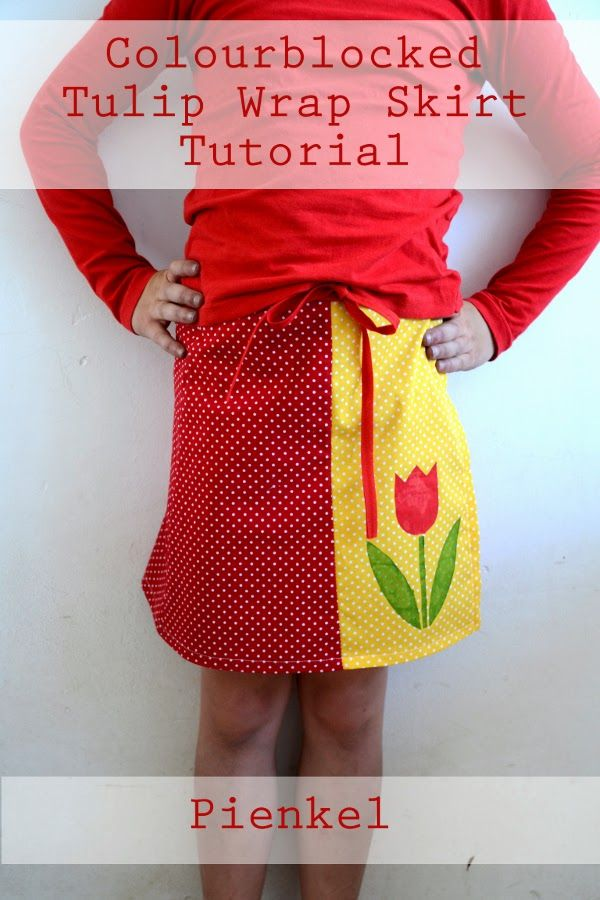 Colorblocked Tulip Wrap Skirt {Pienkel Guest Post} - Mabey She Made It