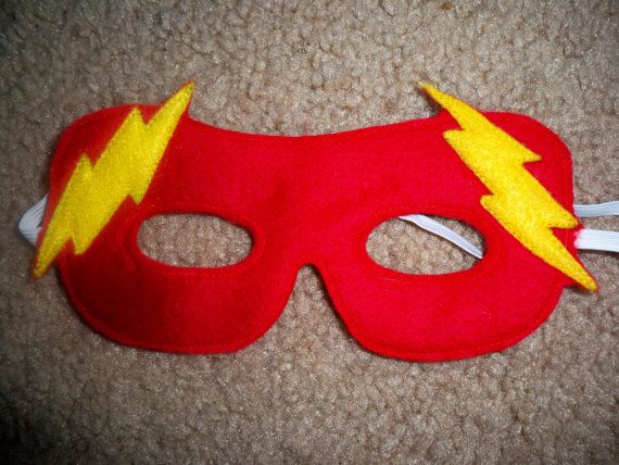 flash or flash girl felt superhero mask costume