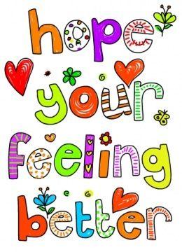 ...feeling better...