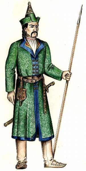 Laszlo again. Coat, belt, belt accessories. --Honfoglaló magyar kori férfi viseletrekonstrulció