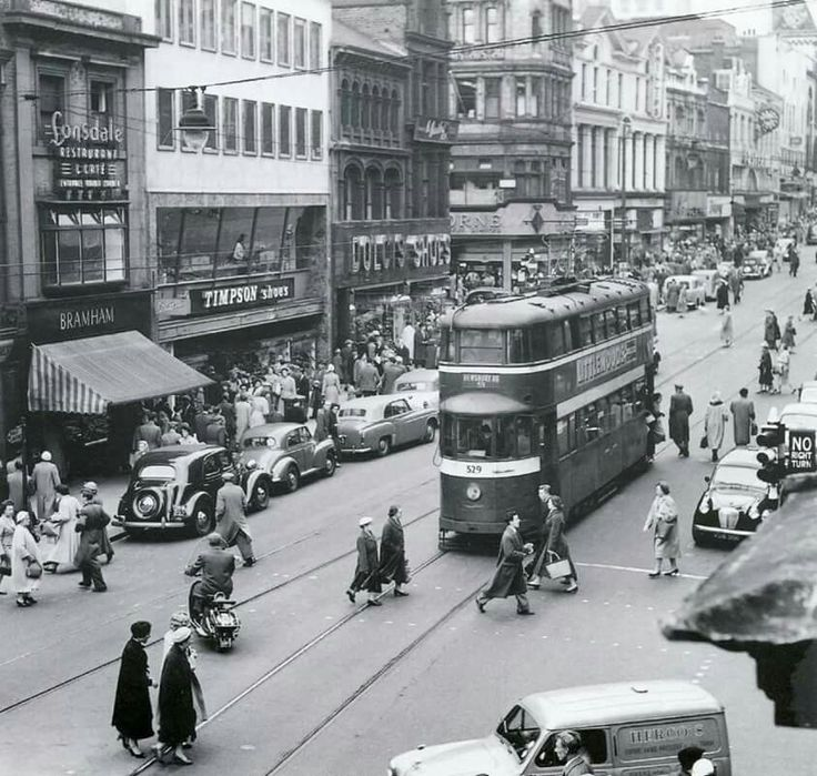 Briggate Leeds 1957. From Leeds Back in The Day Facebook page.