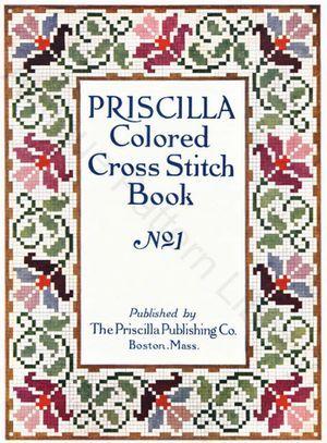 Крышка Присцилла Цветные вышивки крестом Забронировать № 1