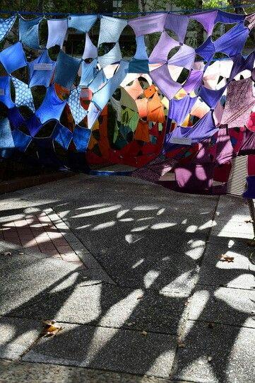 Cloth installation commenting on waste and consumerism, Antoinette Karsten, Australia