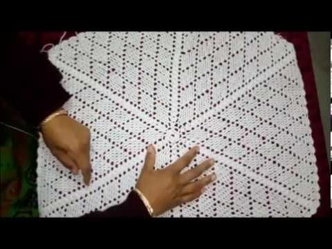 How to make Woolen Tablecloth Using Crochet in HINDI