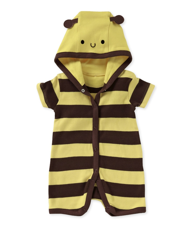 Mothercare Unisex Novelty Bee Hooded Romper GBP1000 Baby Clothes