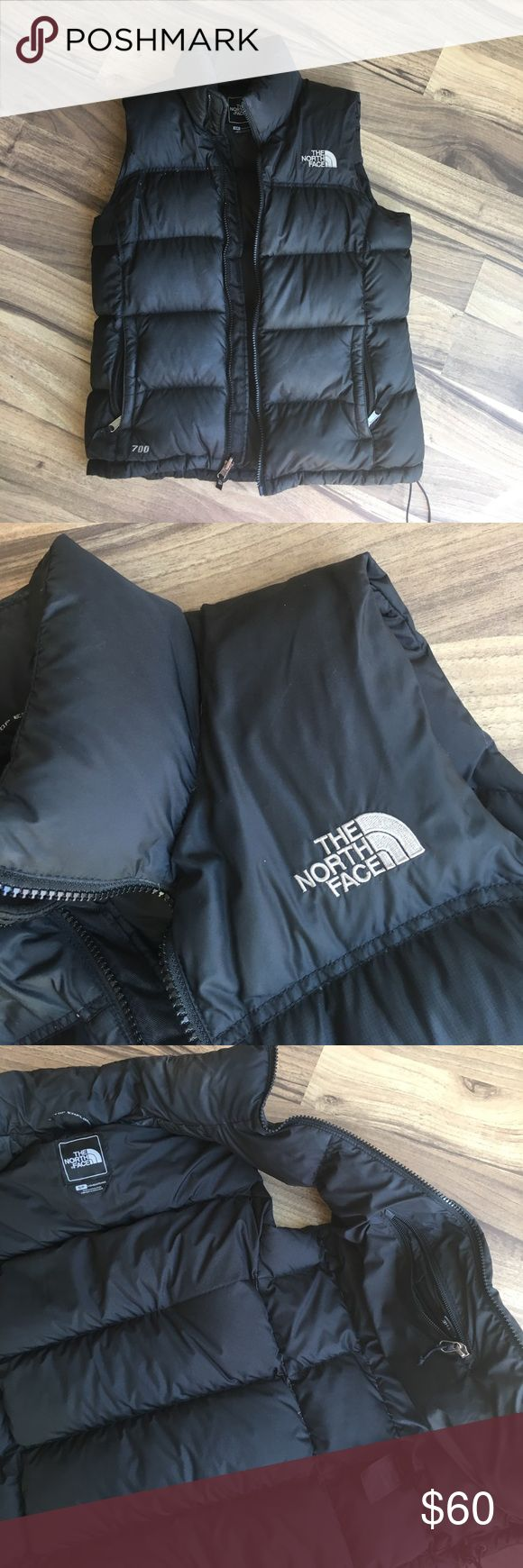 North Face Vest Black puffy North Face Vest. Size Small. Used condition. The North Face Jackets & Coats Vests