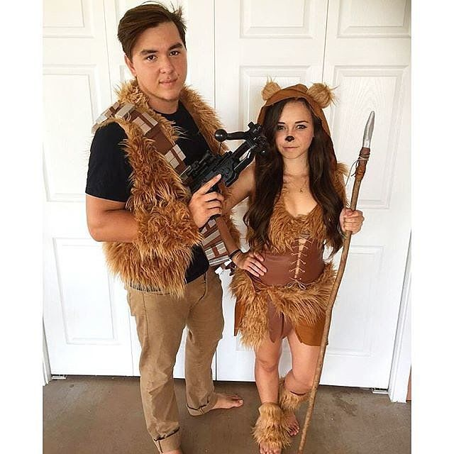 Couple Ewok costumes