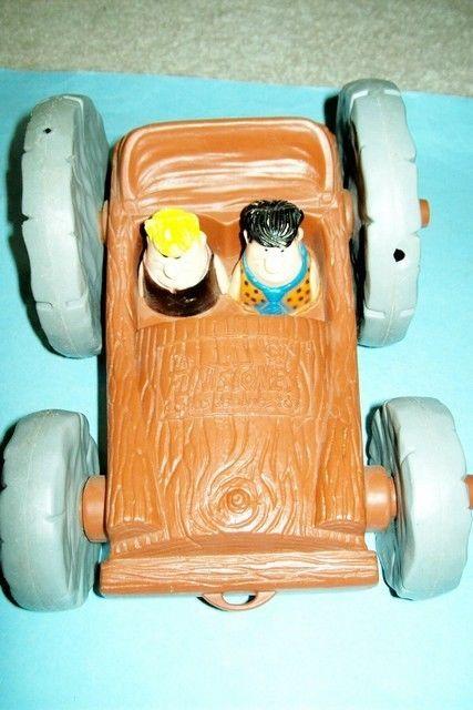 Vintage 1976 The Flintstones Flip Over Car -- A Child Guidance Pull Toy  | eBay
