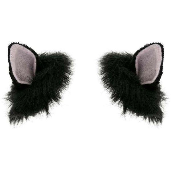 Miss Selfridge Cat Ear Hair Clips ($10) ❤ liked on Polyvore featuring accessories, hair accessories, cats, black, halloween, hats, barrette hair clips, miss selfridge, cat hair accessories and hair clip accessories