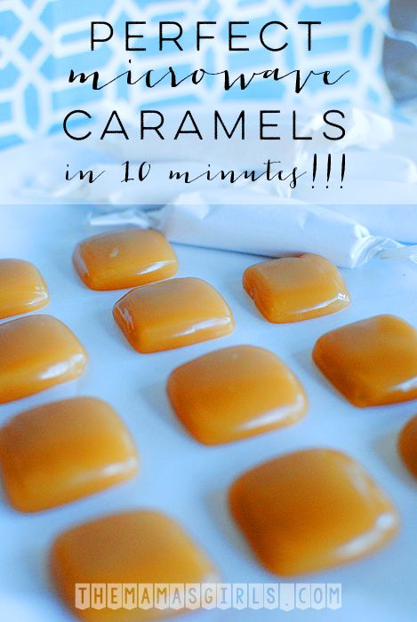 Perfect Microwave Caramels in 10 minutes!
