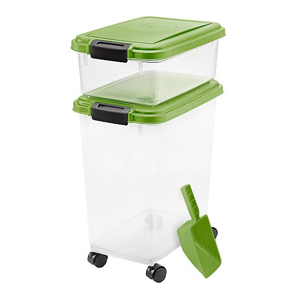 Iris Airtight Pet Food Storage Combo With Scoop Dog Storage