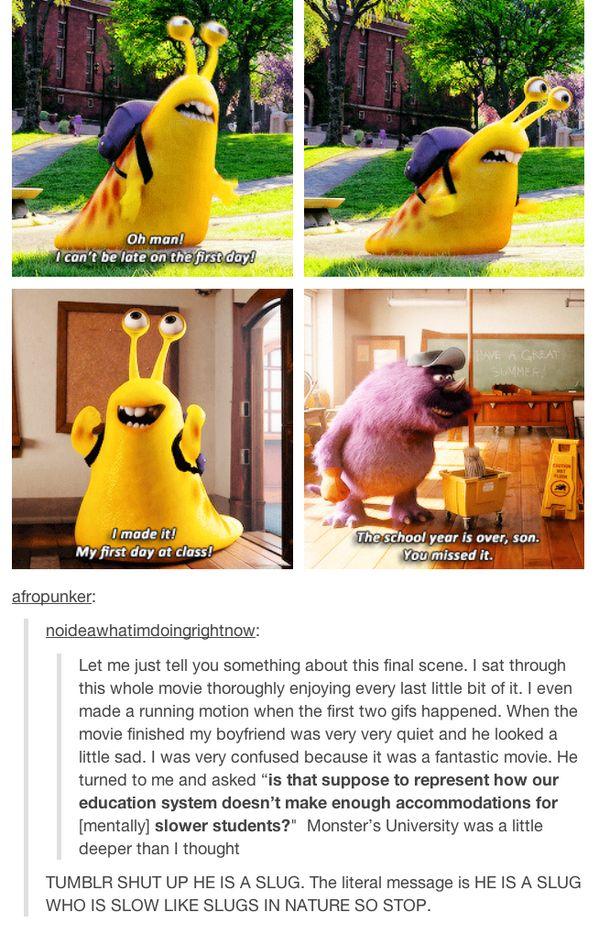 He's a SLUG! - Monsters U