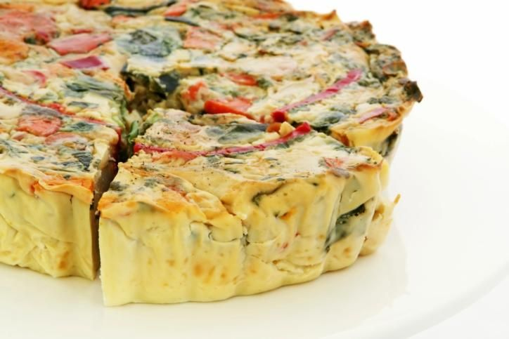 VEGAN Could use for GO fasting days...  Asparagus Quiche with Tomatoes and Tarragon