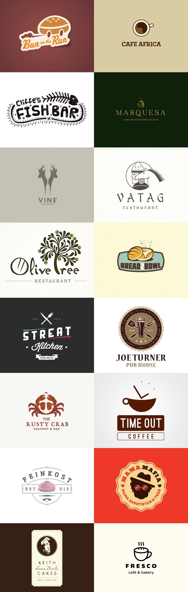 grafiker.de - Logo-Inspiration: Gastronomie Teil 5