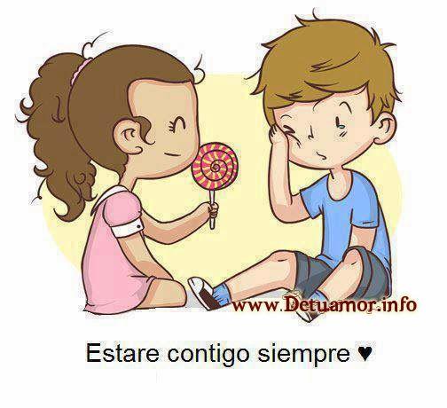 Estaré contigo siempre ♥, imagenes románticas con frases lindas para dedicar a tu amor.