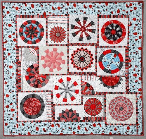 Pigalle, a new workshop quilt based on my MM102 Wheel of Fortune  Template Set. The possibilities are just endless!