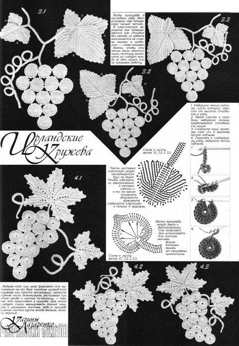 Irish Crochet Diagrams