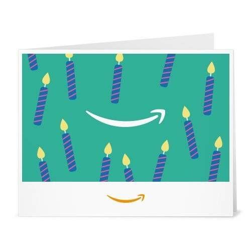 nice Amazon Gift Card - Print - Birthday Teal Candles