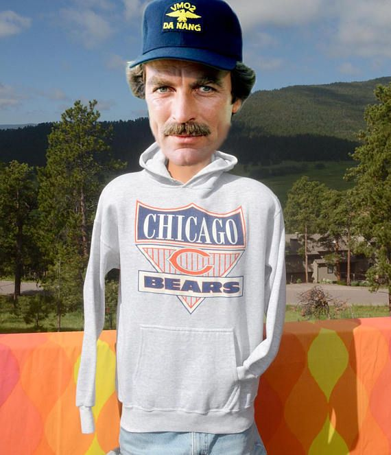 vintage 80s hoody sweatshirt nfl CHICAGO BEARS Medium Large
