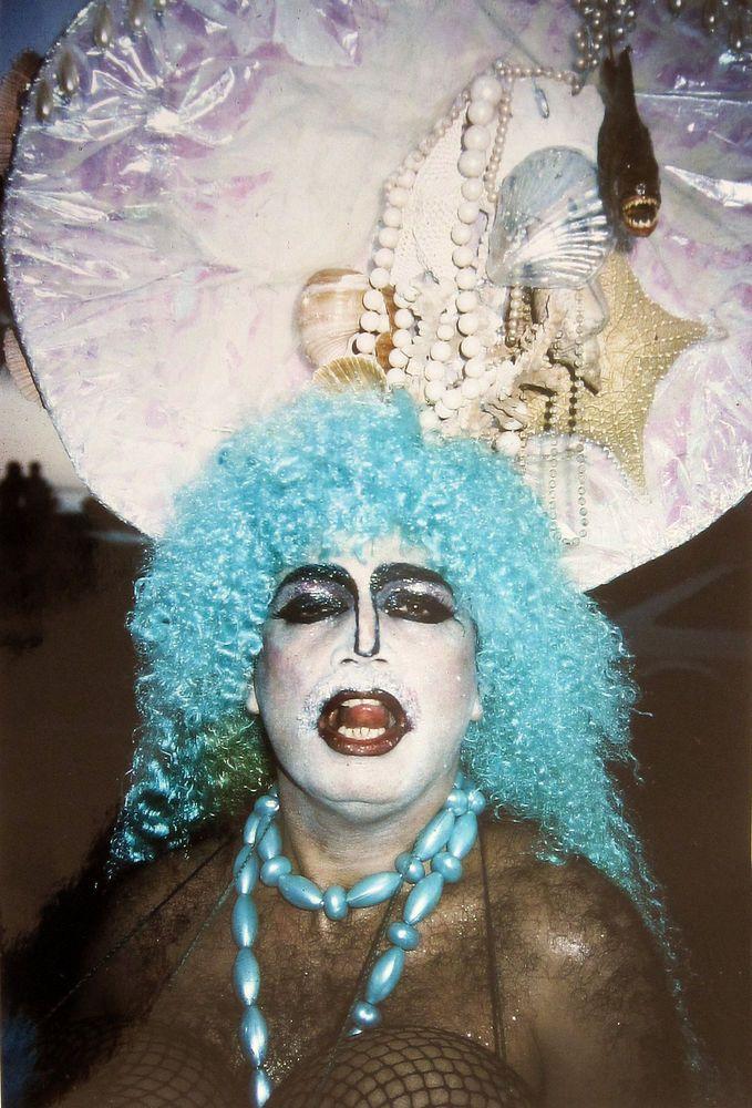 Jeff Plate Vintage Print Neptun 1989 Karneval Rio de Janeiro signiert Neptuno