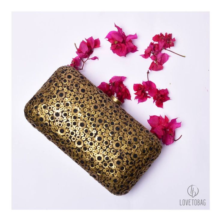 Black and Gold beauty makes for the perfect party accesory!  Shop Now at: www.lovetobag.com #Sale #Pearl #Black #Gold #Clutch #Clutches #Lovetobag #MadeInIndia #Accessory #Sleeves #Bags #BagLove #HandEmbroidered #ShopNow #Sequins #BucketPouch #Love #JapaneseBeads