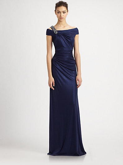 David Meister - Metallic Jersey Gown - Saks.com