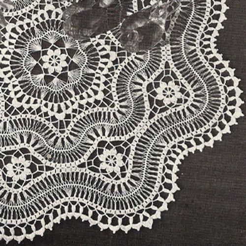 patterns, hairpin lace crochet | Hairpin Lace Centerpiece Crochet Doily PDF Pattern