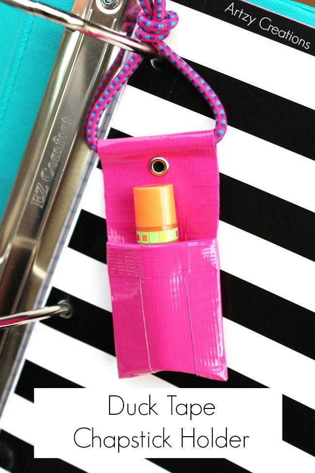 DIY Duck Tape Chapstick Holder