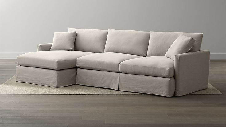 Lounge Slipcovered 2-Piece Sectional Sofa | Crate and Barrel | For the Home | Pinterest | Crates and Barrels : crate barrel lounge sectional - Sectionals, Sofas & Couches