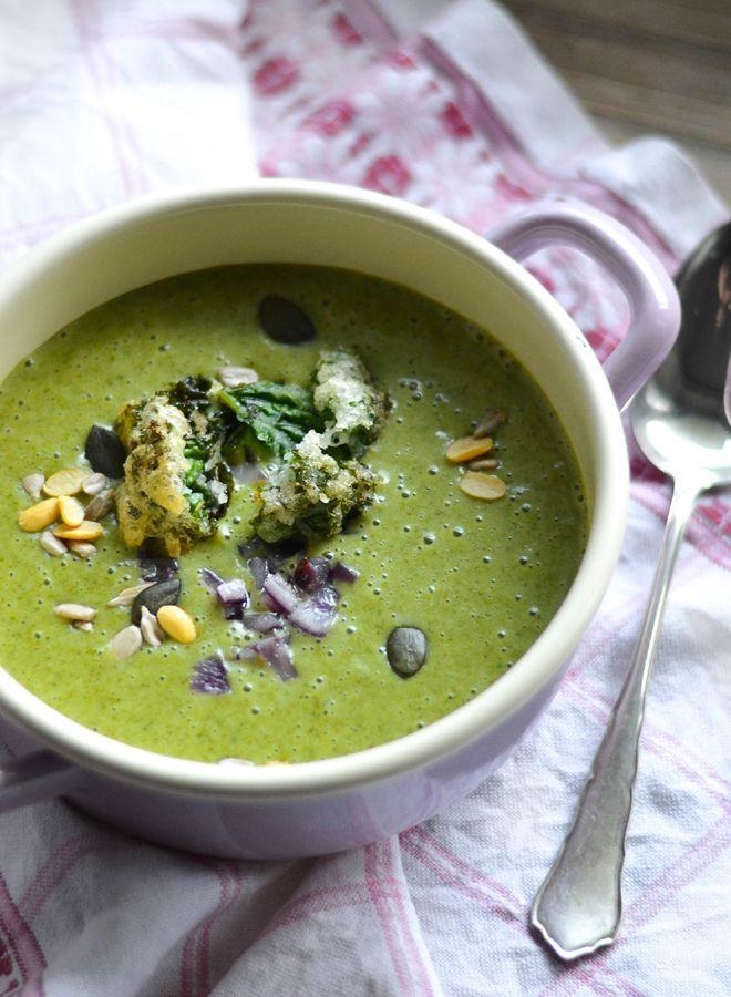 S-Küche: Grünkohl Cremesuppe mit Grünkohlknusper