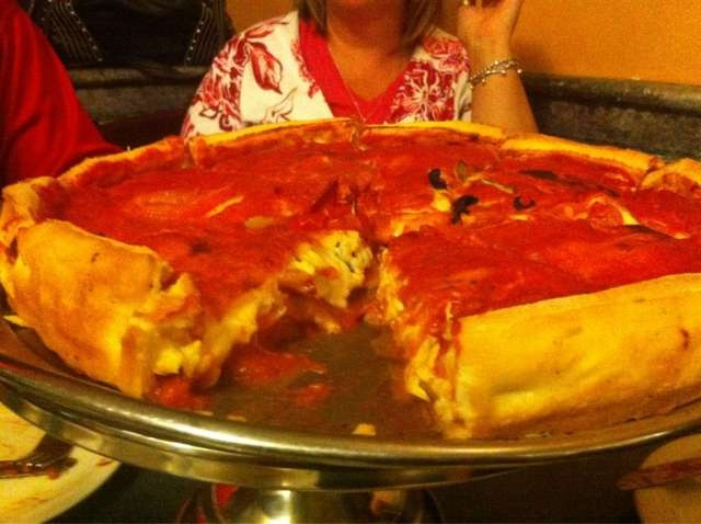 Deepest Dish Pizza from Chicago Style Pizza in Hamilton Ont! <3 going there this weekend!!!