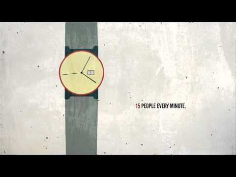 Every four seconds: animation of 2012 refugees statistics