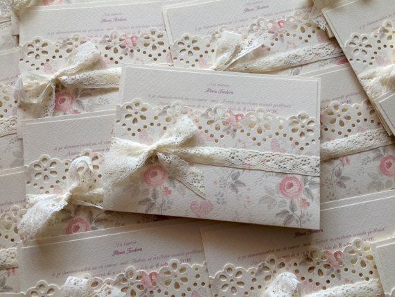 Floral Wedding Invitations/Romantic Boho by handmadebymaddy