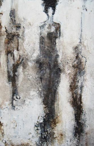 Felice Sharp///    (The Curtain Call/ mixed media, 34 x 50)