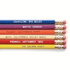 Set of pencils about California! How cute of a gift idea for a friend that is crazy about California!