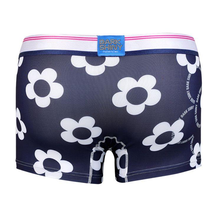 Men's Boxer Pants-Blossom, backprint メンズファッション アンダーウェア ボクサーパンツ #darkshiny #mensfashion #boxerbrief