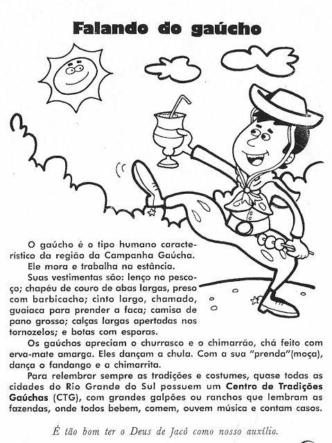 Cultura Gaucha E Semana Farroupilha Lendas Gauchas Atividades